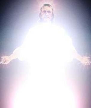Jesus glowing